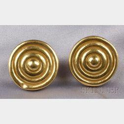 22kt Greek Gold Earclips, Ilias Lalaounis
