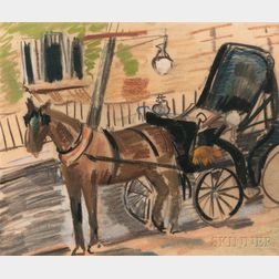 Margarett Sargent (American, 1892-1978)    Horse and Carriage
