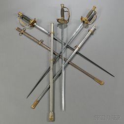 Three Model 1860 Staff & Field Officer's Swords