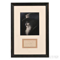 Rodin, François-Auguste-René (1840-1917) Signed Calling Card.