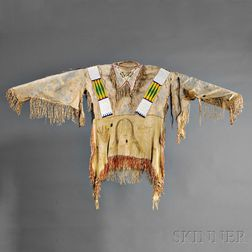 Central Plains Beaded Hide Man's Shirt