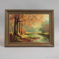 Ray Huntsman (Massachusetts, 1874-1965)    Autumn Landscape