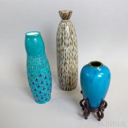 Three Ceramic Vases