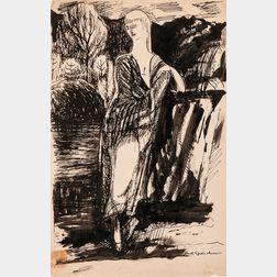 Carl Sprinchorn (Swedish/American, 1887-1971)      Figural Drawing