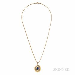 18kt Gold and Sapphire Pendant