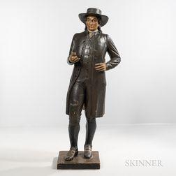 Painted Papier-mache Figure of a Quaker