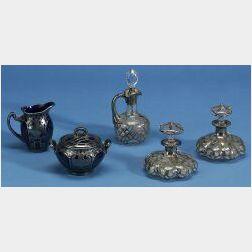 Five Silver Overlay Hollowwares