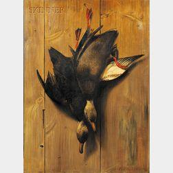 Alexander Pope (American, 1849-1924)      Hanging Ducks