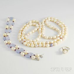 Group of Freshwater Pearl Jewelry