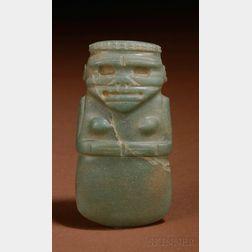 Pre-Columbian Carved Jade Celt