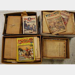 Approximately 670 Assorted Series Dime Novels/Nickel Weeklies