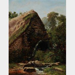 William Sidney Morrish (British, 1844-1917)      Thatched Cottage