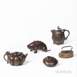 Five Miniature Bronze Water Droppers