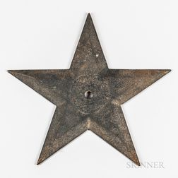 "Large Black-painted Cast Iron Building ""Star,"""