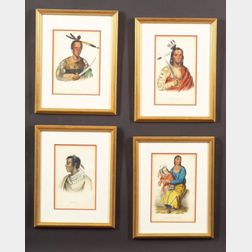 Four McKenney and Hall Colored Lithographs