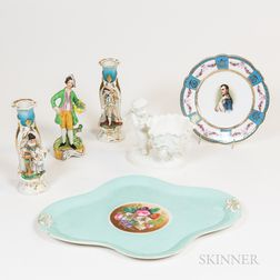 Six Pieces of Faience China