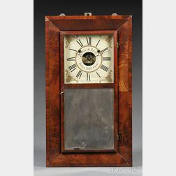 Silas B. Terry Mahogany Beveled Case Shelf Clock