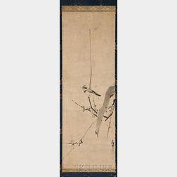 Hanging Scroll Depicting a Bird