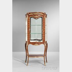 Louis XVI-style Gilt-bronze-mounted and Kingwood Veneer Vitrine