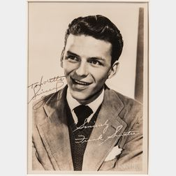 Sinatra, Frank (1915-1998) Signed Photograph.