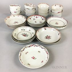 Thirty-eight Chinese Export Porcelain Teacups and Saucers.     Estimate $200-300
