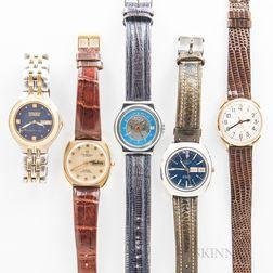 Five Men's Wristwatches