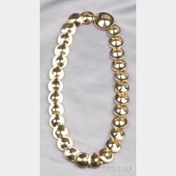 18kt Gold Disc Necklace, Robert Lee Morris