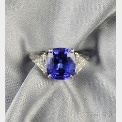 Platinum, Tanzanite, and Diamond Ring, Tiffany & Co.