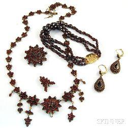 Group of Garnet Jewelry