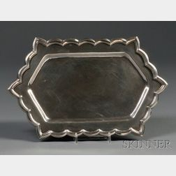 Henry Petzal Silversmith (1906-2002) Tray with Six Corners