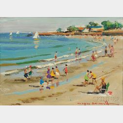 Wayne Beam Morrell (American, 1923-2013)      Front Beach, Rockport, Mass.