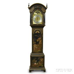 Sligh Chinoiserie-decorated Chime Clock