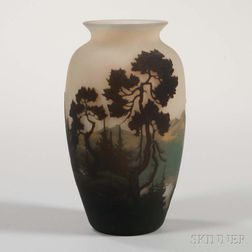 Muller Fres Cameo Glass Vase