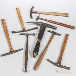 Eight 19th Century Hammers
