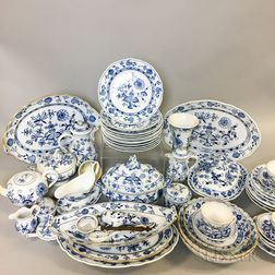 Extensive Mostly Meissen Blue Onion Porcelain Dinner Service.     Estimate $1,000-2,000