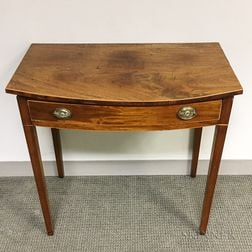 George III Mahogany One-drawer Console Table