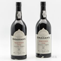 Grahams Malvedos Vintage Port 1992, 2 bottles