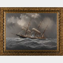 Charles Sidney Raleigh (Massachusetts, c. 1830-1925)      Western Belle   in a Storm