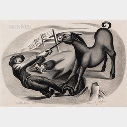 Bernard Joseph Steffen (American, 1907-1980)    Cantankerous Colt