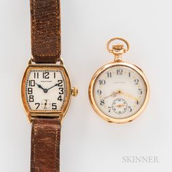 Two Waltham 14kt Gold Watches