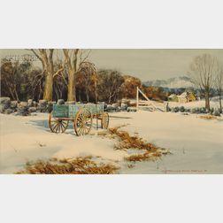 Donald Allen Mosher (American, b. 1945)      Winter by the Farm