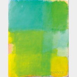 American School, 20th Century      Untitled Painting (Color Field Abstract)