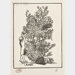Aristide Maillol (French, 1861-1944)      Lot of Two Botanical Images: Poirier