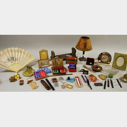 Group of Miscellaneous Arts & Crafts, Art Deco, and Decorative Desk and Table Items