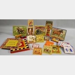 Assortment of Children's Puzzles, Games, Toys, and Books