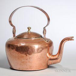 J.P. Lyne Copper Teakettle