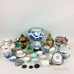 Group of Mostly Chinese Ceramic Items