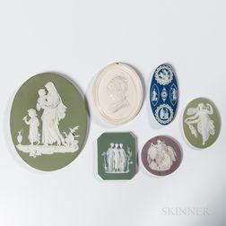 Six Assorted Wedgwood Medallions