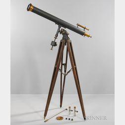 Alvan Clark & Sons 4-inch Refractor Telescope