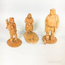 Three Keith Parker Wood Carvings